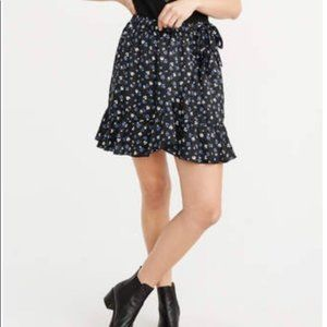 Abercrombie and Fitch Ruffle Wrap Skirt NWT